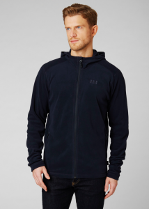 Helly Hansen Polar męski z kapturem (51869) DAYBREAKER HOODED FLEECE granatowy