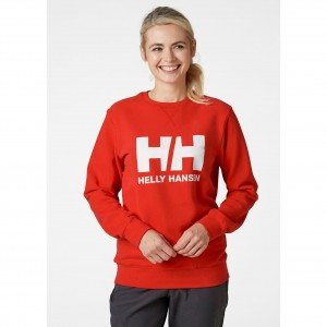 Helly Hansen Bluza damska (34003) HH LOGO CREW SWEAT alert red